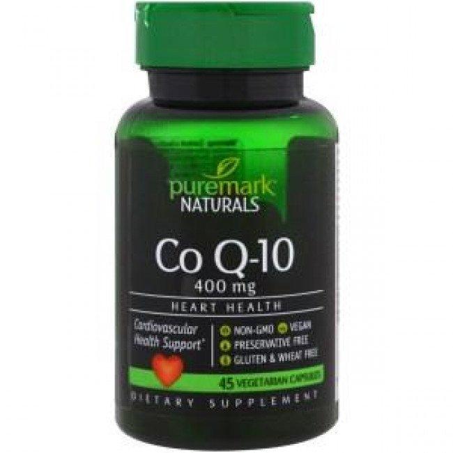 Co Q-10 400mg 45 veggie caps | Puremark Naturals