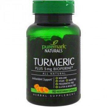 Turmeric 90 Capsules PureMark Naturals