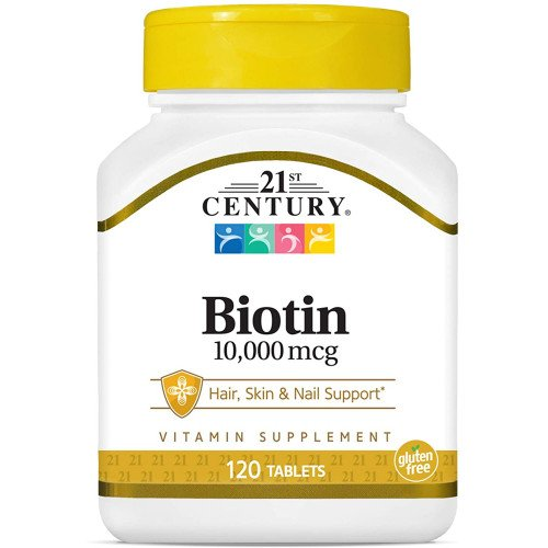 Biotin 10,000 mcg 120 Tablets | 21st Century на марката 21st Century Vitamins от вносител и дистрибутор.