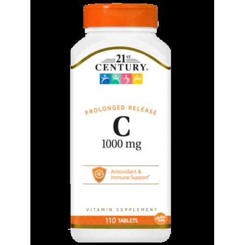 C-1000 Prolonged Release 110 таблетки | 21st Century на марката 21st Century Vitamins от вносител и дистрибутор.