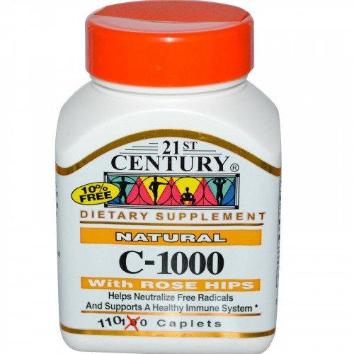 Витамин C 1000 мг 110 таблетки с Шипка | 21st Century на марката 21st Century Vitamins от вносител и дистрибутор.