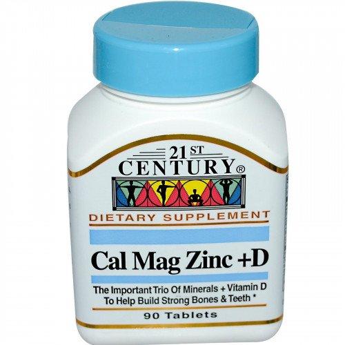 Калций Магнезий Цинк + Витамин D | 90 таблетки | 21st Century на марката 21st Century Vitamins от вносител и дистрибутор.