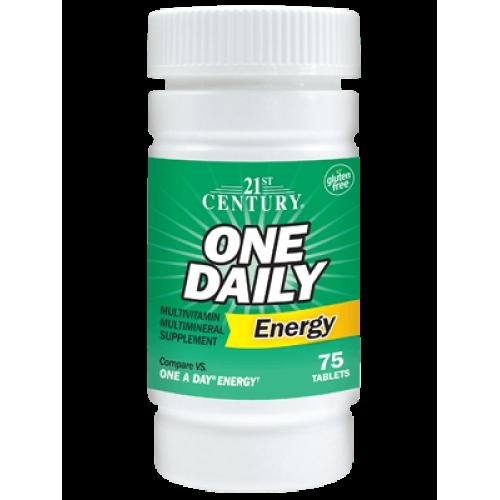 Мултивитамини One Daily Energy 75 таблетки | 21st Century на марката 21st Century Vitamins от вносител и дистрибутор.