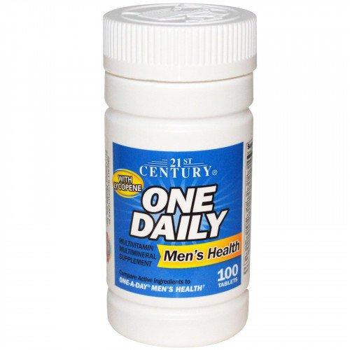 One Daily Мултивитамини и мултиминерали за мъже 100 таб с Ликопен на марката 21st Century Vitamins от вносител и дистрибутор.
