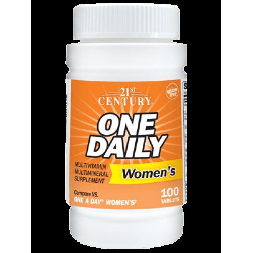 One Daily Мултивитамини и мултиминерали за жени 100 таблетки на марката 21st Century Vitamins от вносител и дистрибутор.