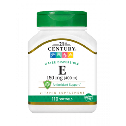 Витамин Е 400 IU 110 гел капсули | 21st Century на марката 21st Century Vitamins от вносител и дистрибутор.