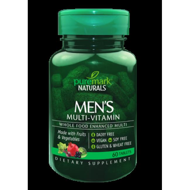 Men's Multi-Vitamin 60 tabs Puremark Naturals