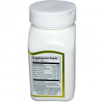 Витамин B Комплекс Натурален с витамин C 100 капсули | 21st Century