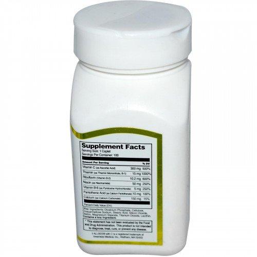 Витамин B Комплекс Натурален с витамин C 100 капсули | 21st Century на марката 21st Century Vitamins от вносител и дистрибутор.