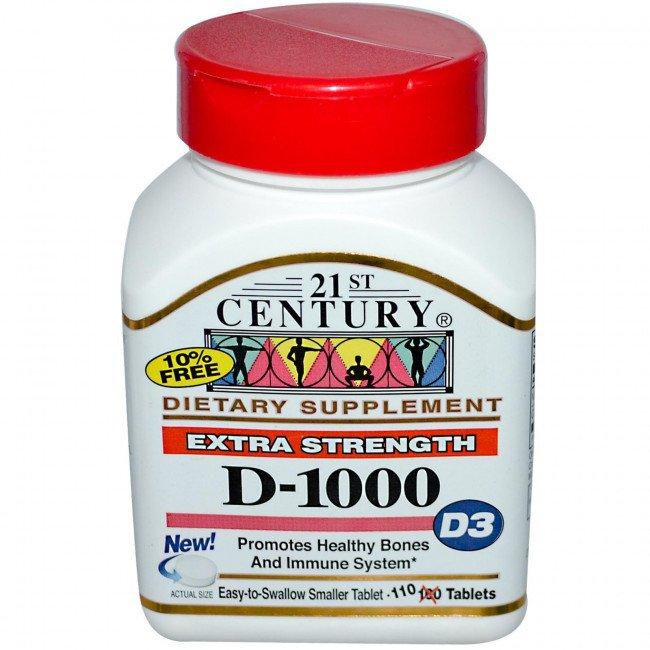 Витамин Д3 2000 IU 250 дражета   21st Century